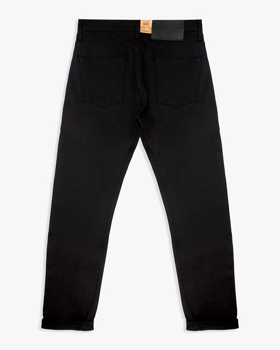 Naked & Famous Weird Guy Slim Tapered Mens Jeans - Solid Black Selvedge Naked & Famous Denim Jeans