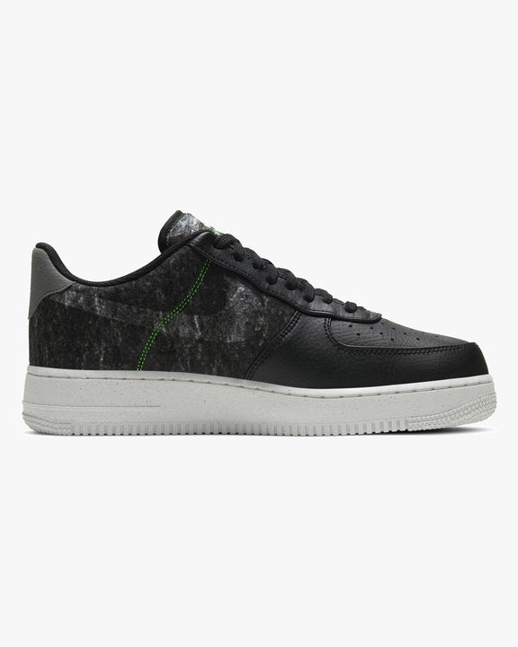Nike Air Force 1 '07 LV8 'Recycled Wool' - Black / Clear / Electric Green Nike Trainers