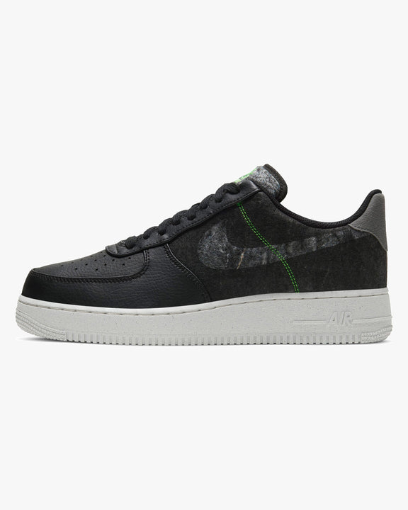 Nike Air Force 1 '07 LV8 'Recycled Wool' - Black / Clear / Electric Green UK 7 CV1698-0017 Nike Trainers