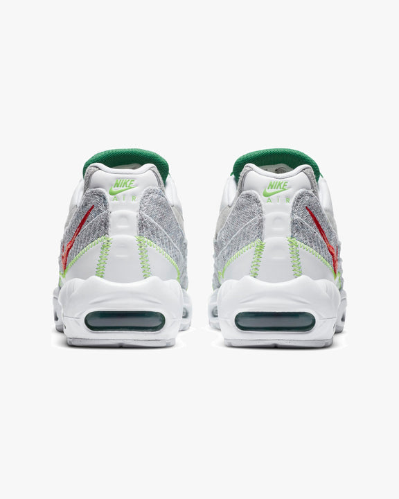 Nike Air Max 95 'Recycled Canvas' - White / Classic Green / Electric Green Nike Trainers
