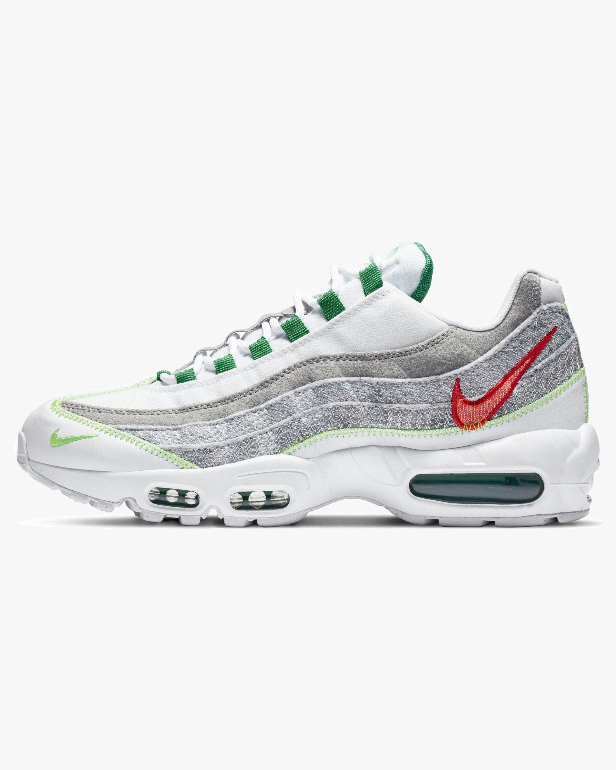 Nike Air Max 95 'Recycled Canvas' - White / Classic Green / Electric Green UK 6 CU55171006 Nike Trainers