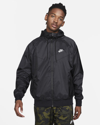 Nike Hooded Windrunner Jacket - Black / White S DA0001-010S 194953024234 Nike Jackets & Coats