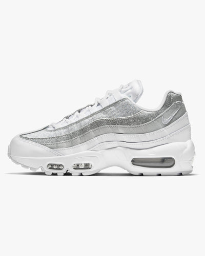 Nike Wmns Air Max 95 - White / Metallic Silver UK 3 DH3857-1003 194955649282 Nike Trainers