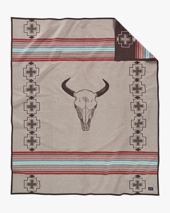 Pendleton Suedebound Unnapped Jacquard Robe Blanket - American West Tan ZE487-53565 885628500411 Pendleton Miscellaneous