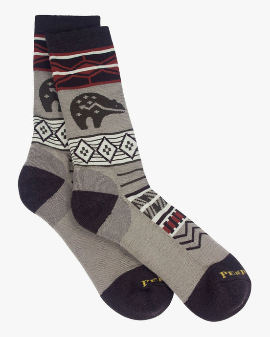 Pendleton Wild Wonderland Wool Crew Sock - Brown 7392130 Pendleton Socks
