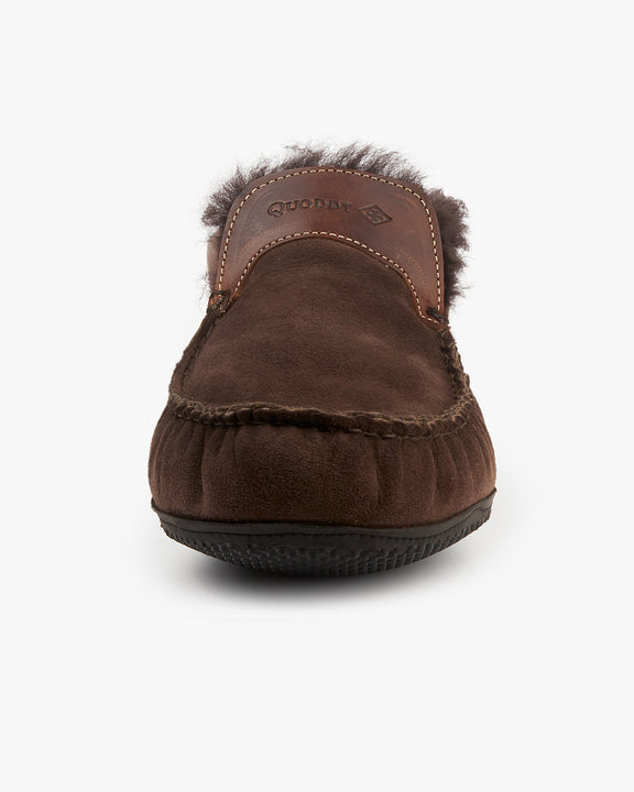 Quoddy Dorm Boot Slippers - Chocolate Quoddy Slippers
