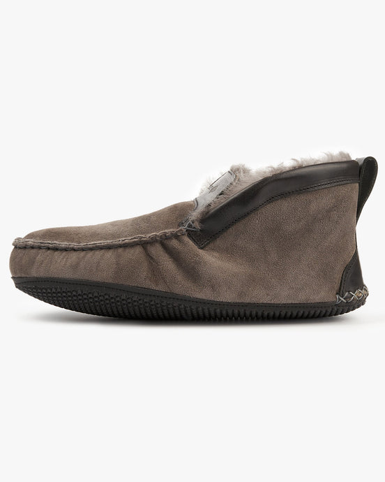 Quoddy Dorm Boot Slippers - Grey UK 8 3600088 796258982662 Quoddy Slippers