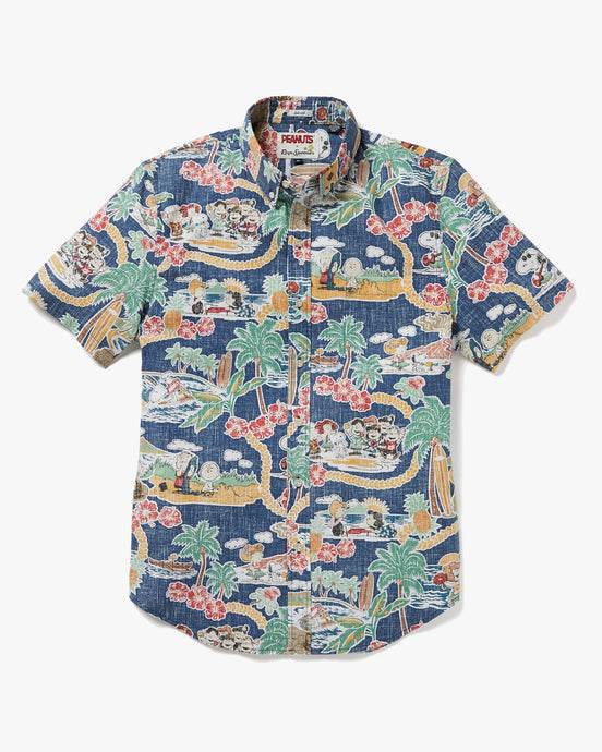 Reyn Spooner x Peanuts In Hawaii Tailored Shirt - Dark Blue M M525219320-0235M Reyn Spooner Shirts