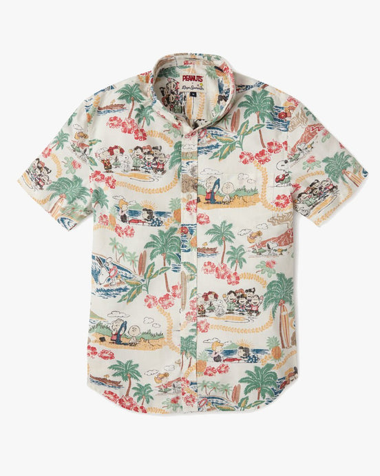Reyn Spooner x Peanuts In Hawaii Tailored Shirt - White M M525219320-0001M Reyn Spooner Shirts