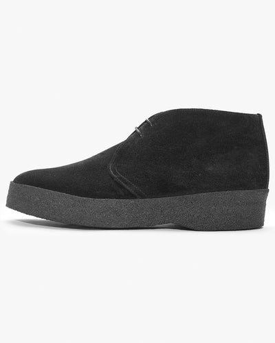 Sanders Hi-Top Chukka Boot - Black Suede UK 7 6480BS7 Sanders Boots