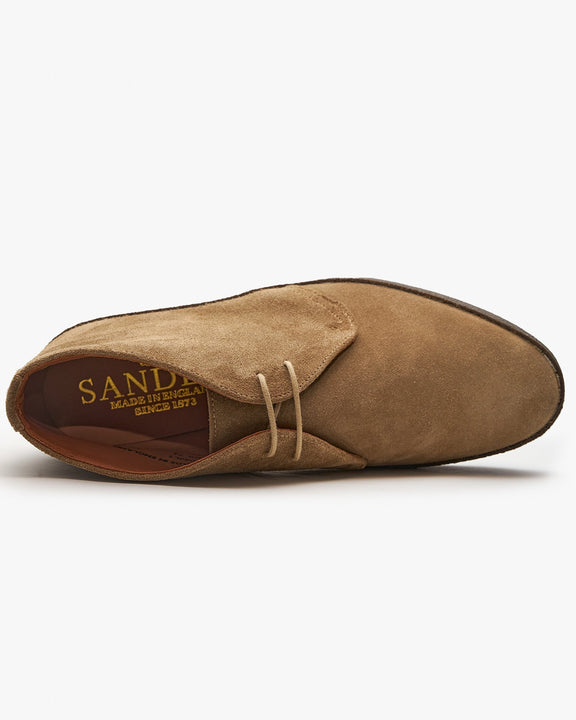 Sanders Hi-Top Chukka Boot - Dirty Buck Suede Sanders Boots