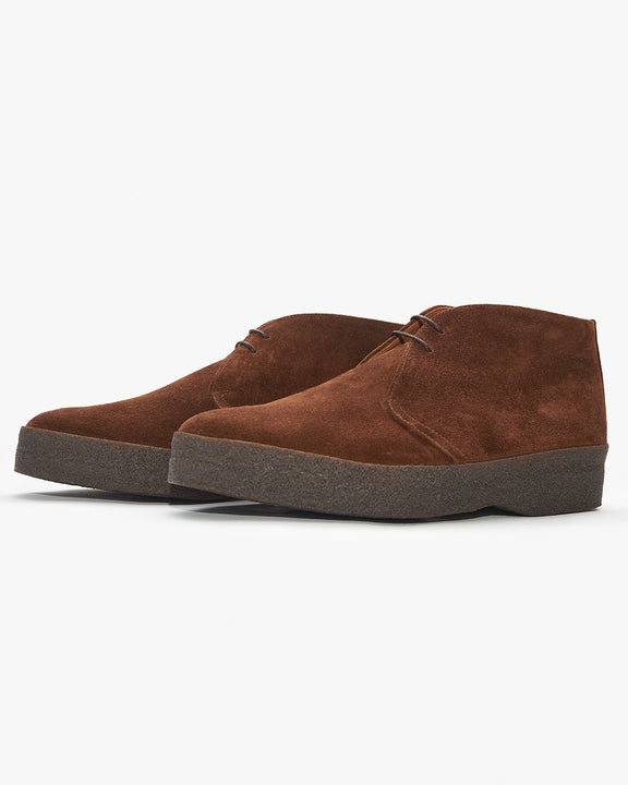 Sanders Hi-Top Chukka Boot - Polo Snuff Suede Sanders Boots