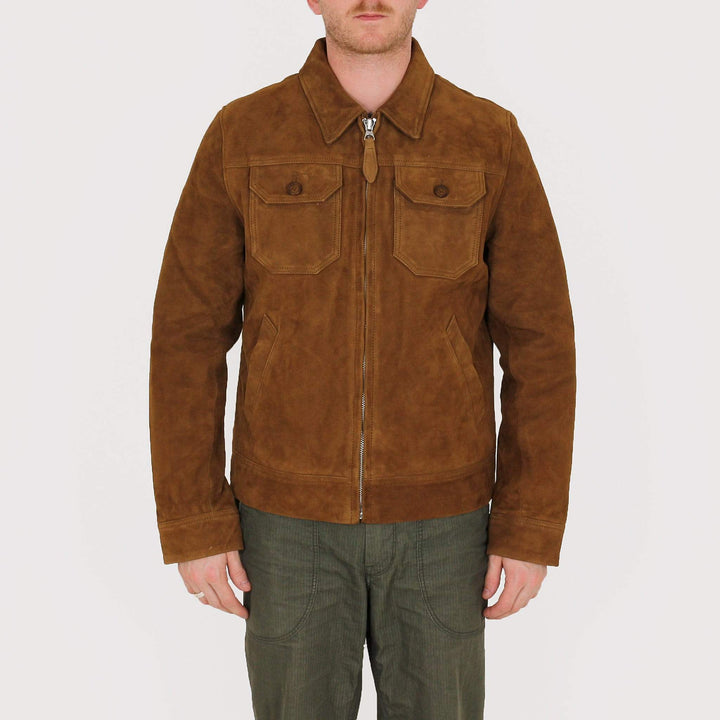 Schott NYC LCSTANW19 Suede Western Jacket - Rust L LCSTANW19RUSL 3417751239585 Schott NYC Jackets & Coats