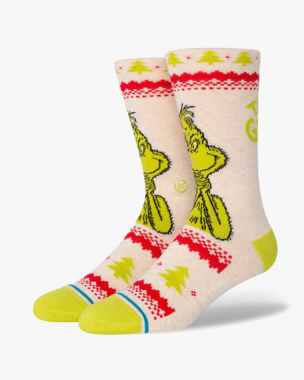 Stance x The Grinch Grinch Sweater Socks - Canvas L A545D20GRI-CNVL 190107445658 Stance Socks