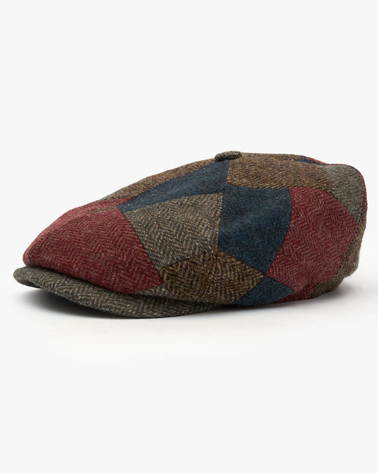 Stetson 6-Panel Patchwork Wool Cap - Multi / Col. 348 57/M 6640503-348M 4063633019166 Stetson Hats