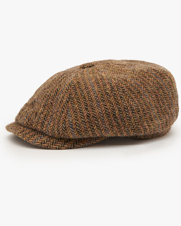 Stetson Hatteras Virgin Wool Herringbone Cap - Brown 57/M 6840510-367M 4063633017896 Stetson Hats