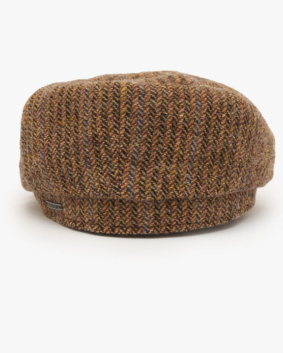 Stetson Hatteras Virgin Wool Herringbone Cap - Brown Stetson Hats