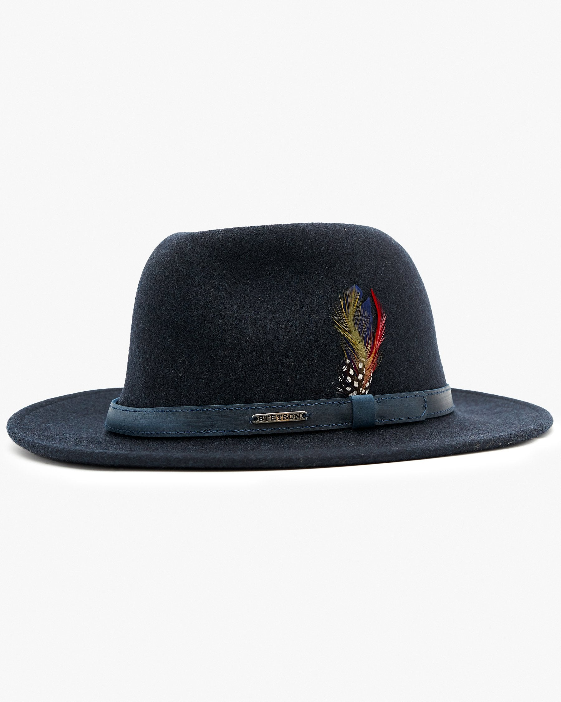 Stetson Traveller Woolfelt Mix Hat - Navy Mix 57/M 2598123-20M 4043898683791 Stetson Hats