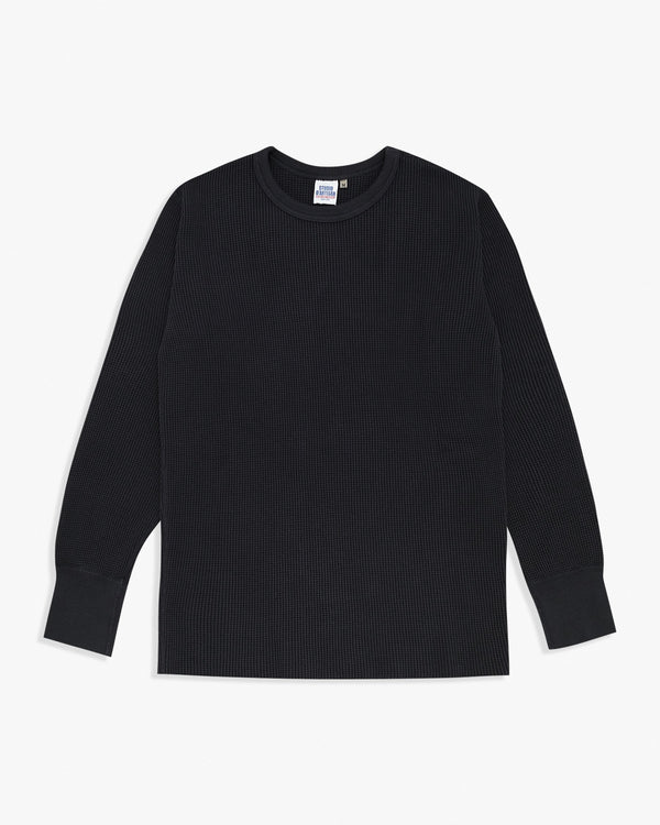 Studio D'Artisan L/S Heavy Knit Thermal Tee - Navy M / 38 9936-NYM Studio D'Artisan T Shirts