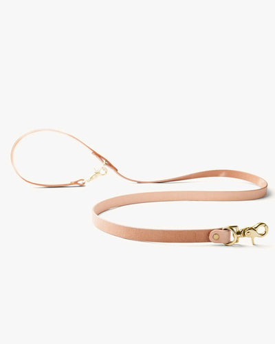 Tanner Goods Convertible Canine Lead - Natural / Brass 12030LEATHER Tanner Goods Miscellaneous