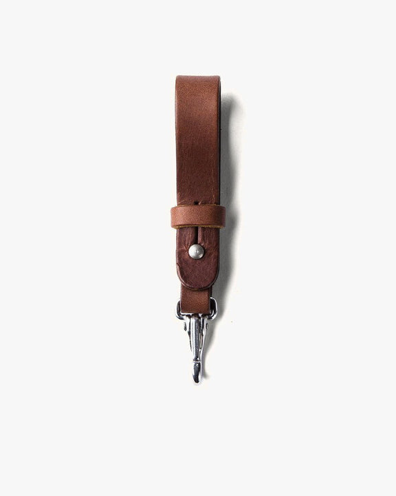 Tanner Goods Key Lanyard - Cognac / Stainless 12870LEATHER Tanner Goods Wallets & Key Fobs