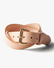 Tanner Goods Standard Leather Belt - Natural / Brass W32 STDBLTNTBRS32 Tanner Goods Belts