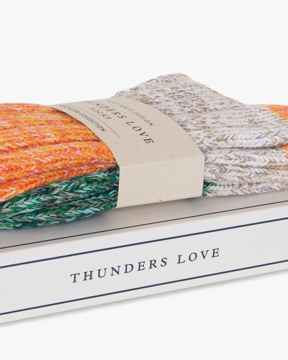 Thunders Love Helen Collection Socks - Orange Love 0080120 Thunders Love Socks