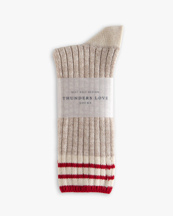 Thunders Love Nautical Turn Socks - Oceanside Beige 0310219 Thunders Love Socks
