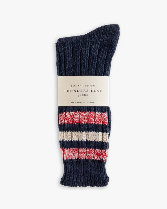 Thunders Love Outsiders Collection Socks - Navy 0110119 110119 Thunders Love Socks