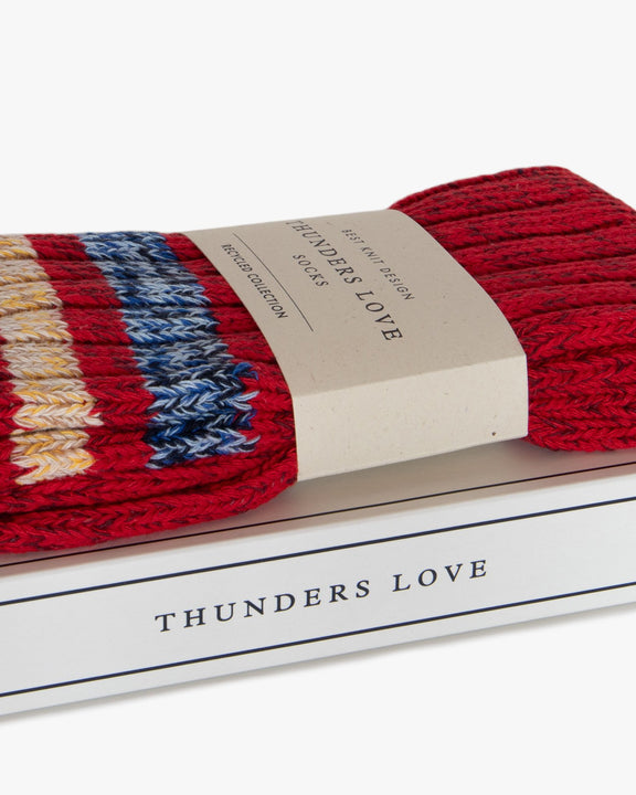 Thunders Love Outsiders Collection Socks - Red 0130119 130119 Thunders Love Socks