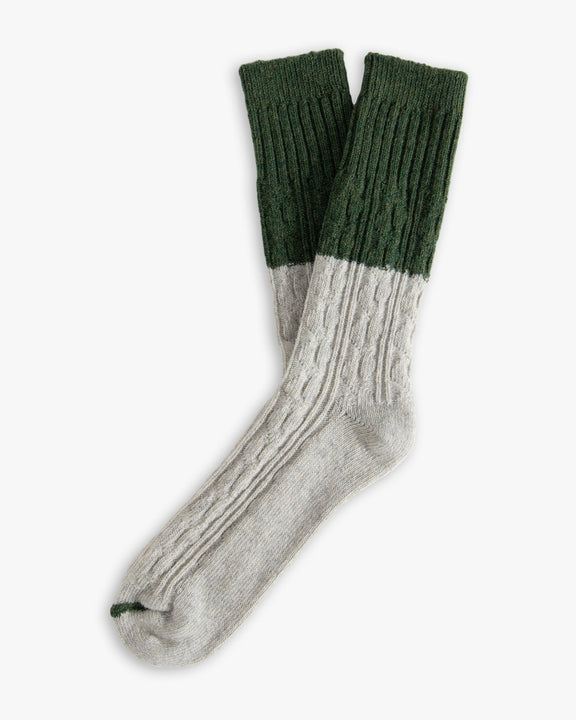 Thunders Love Wool Collection Socks - Cable Knit Green 0010120 Thunders Love Socks