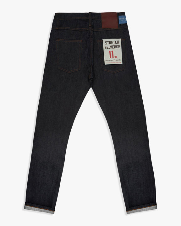 Unbranded UB322 Straight Fit Mens Jeans - 11oz Indigo Stretch Selvedge W30 L34 UB32230 The Unbranded Brand Jeans Unbranded Straight Fit Mens Jeans - 11oz Stretch Selvedge Indigo - Jeans and Street Fashion from Jeanstore