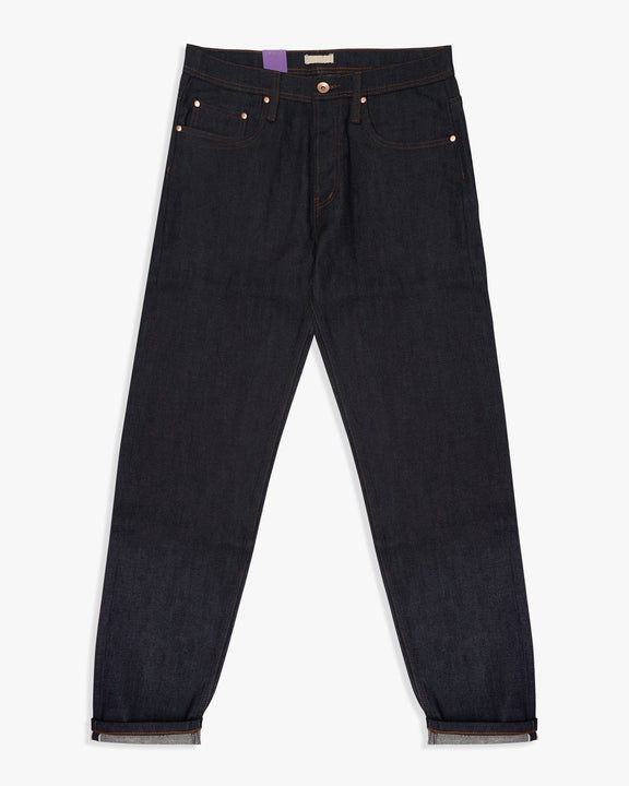 Unbranded UB622 Relaxed Tapered Mens Jeans - 11oz Indigo Stretch Selvedge The Unbranded Brand Jeans Unbranded Relaxed Tapered Fit Mens Jeans - 11oz Stretch Selvedge Blue - Jeans and Street Fashion from Jeanstore