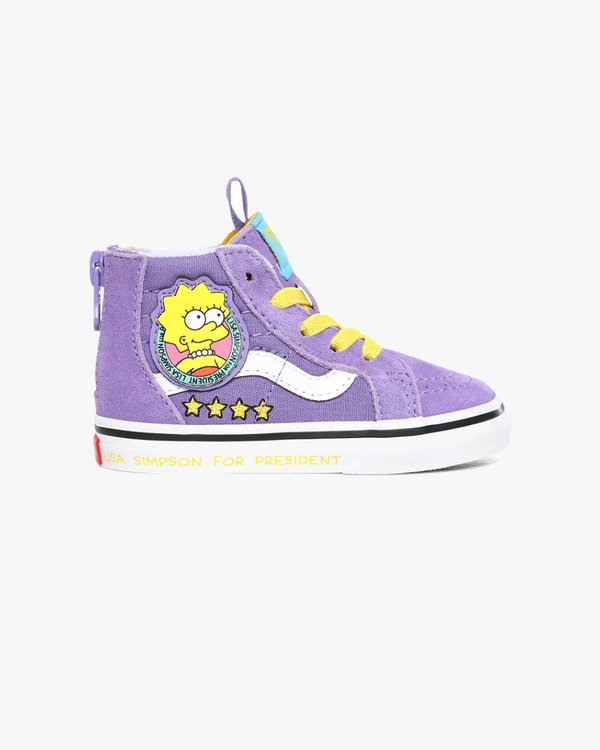 Vans x The Simpsons Toddlers SK8-Hi Zip - Lisa 4 Prez C4 VN0A4BV117G1C4 Vans Trainers