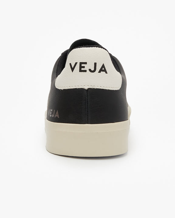 Veja Campo Chromefree Leather Sneakers - Black / White Veja Trainers