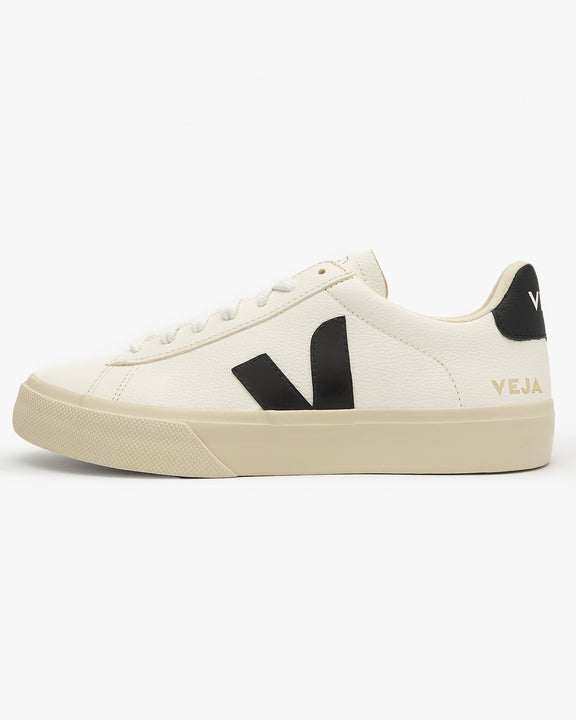 Veja Campo Chromefree Leather Sneakers - White / Black UK 7 CP051537B7 3611820005730 Veja Trainers