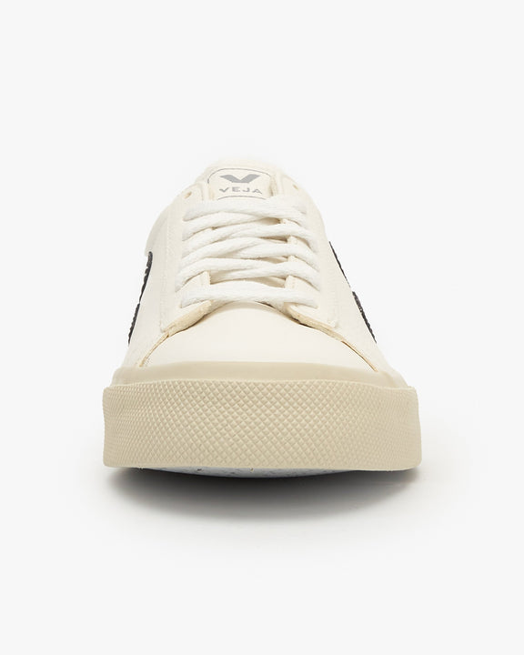 Veja Campo Chromefree Leather Sneakers - White / Black Veja Trainers
