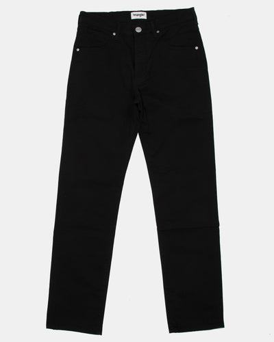 Wrangler Arizona Stretch Fitted Straight Mens Cotton Trousers - Black W32 L30 W12OW310032S 5400919115423 Wrangler Chinos & Non-Denim Pants