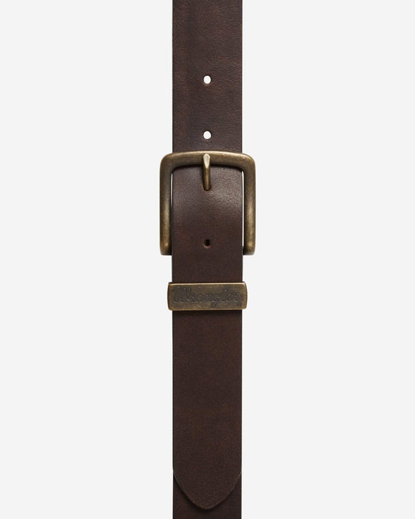 Wrangler Basic Metal Loop Belt - Brown 100cm / 38in W0080US8538 5415037719330 Wrangler Belts Wrangler Basic Metal Loop Belt - Brown - Jeans and Street Fashion from Jeanstore