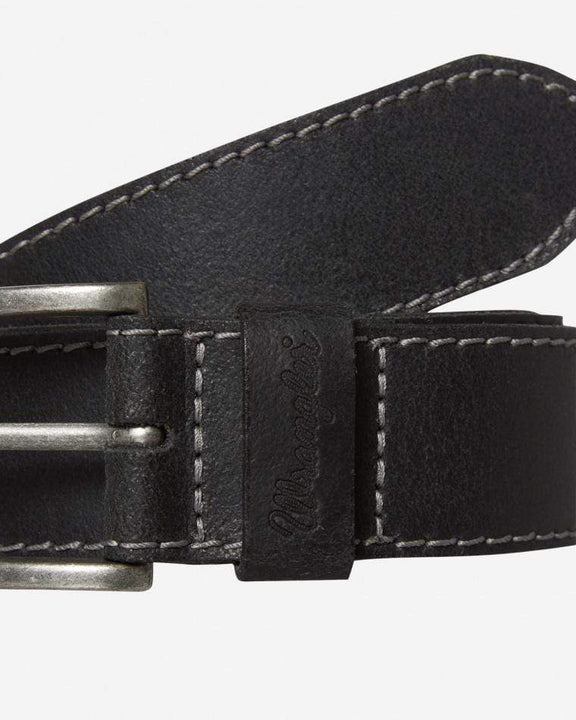 Wrangler Basic Stitched Belt - Black Wrangler Belts Wrangler Basic Stitched Belt - Black - Jeans and Street Fashion from Jeanstore