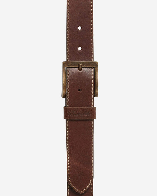 Wrangler Basic Stitched Belt - Mid Brown 100cm / 38in W0081US8538 5414936716082 Wrangler Belts Wrangler Basic Stitched Belt - Mid Brown - Jeans and Street Fashion from Jeanstore