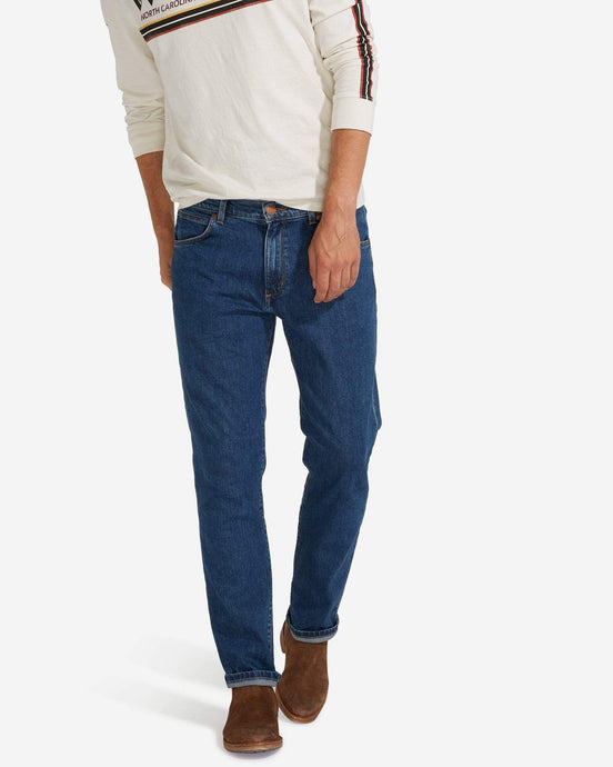 Wrangler Greensboro Regular Fit Mens Jeans - Darkstone W30 L32 W15Q2309030R 5400552899964 Wrangler Jeans Wrangler Greensboro Regular Fit Mens Jeans - Darkstone - Jeans and Street Fashion from Jeanstore