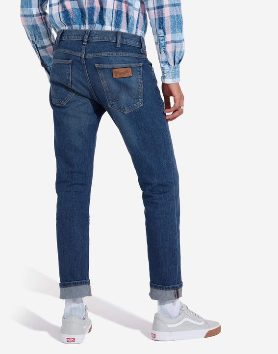Wrangler Larston Slim Tapered Mens Jeans - Indigo Wit Wrangler Jeans Wrangler Larston Slim Tapered Mens Jeans - Indigo Wit - Jeans and Street Fashion from Jeanstore