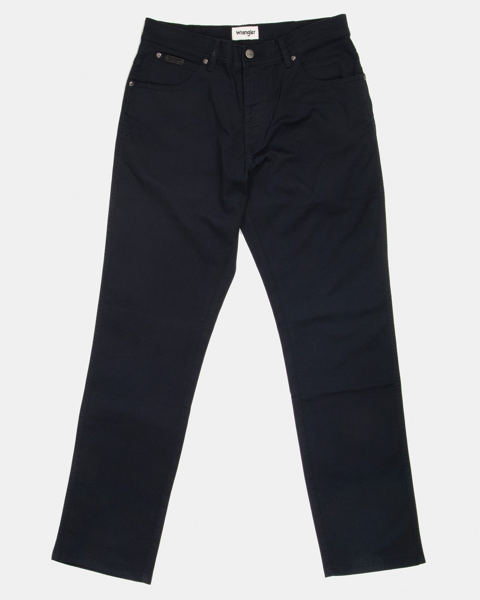 Wrangler Texas SLIM Mens Cotton Trousers - Navy W40 L30 W12SW311440S Wrangler Chinos & Non-Denim Pants