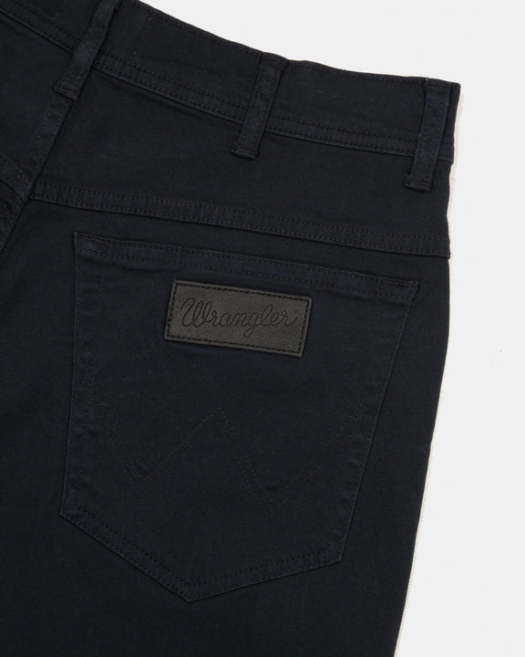 Wrangler Texas SLIM Mens Cotton Trousers - Navy Wrangler Chinos & Non-Denim Pants