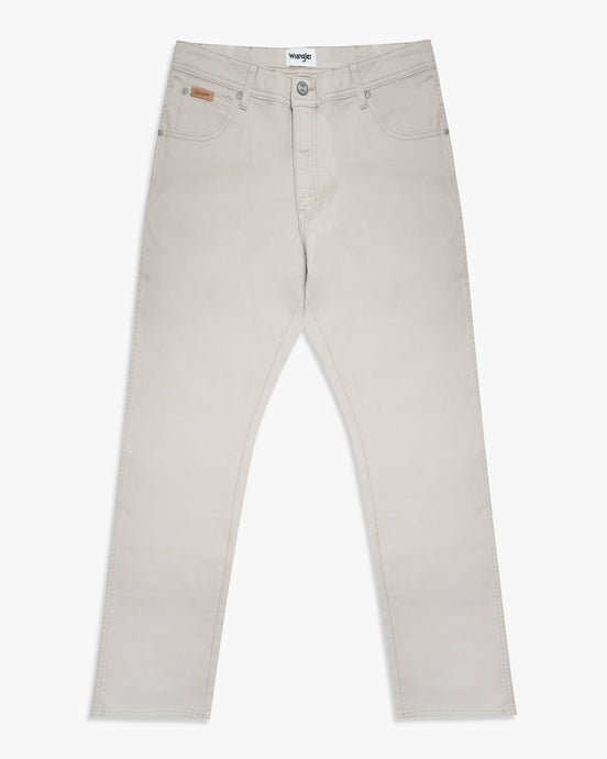 Wrangler Texas SLIM Mens Cotton Trousers - Stone W33 L30 W12SW340V33S Wrangler Chinos & Non-Denim Pants