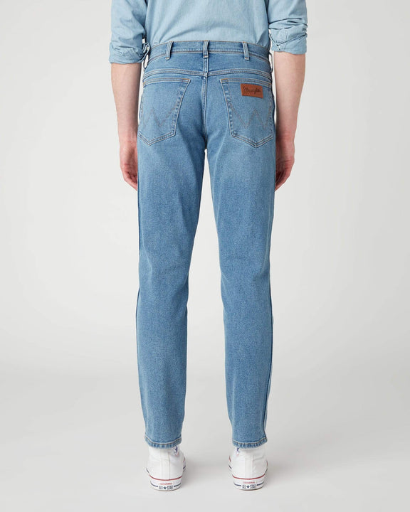 Wrangler Texas SLIM Mens Jeans - Blue Honor Wrangler Jeans