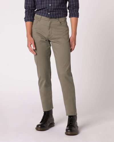 Wrangler Texas Stretch Regular Fit Mens Cotton Trousers - Dusty Olive W32 L30 W121W327532S 5400919120960 Wrangler Chinos & Non-Denim Pants