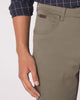 Wrangler Texas Stretch Regular Fit Mens Cotton Trousers - Dusty Olive Wrangler Chinos & Non-Denim Pants