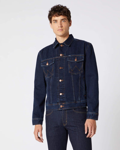 Wrangler Western Denim Jacket - Blue Black L W41001705L 5414843400647 Wrangler Jackets & Coats Wrangler Western Denim Jacket - Blue Black - Jeans and Street Fashion from Jeanstore